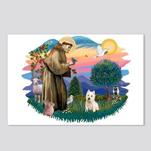 St Francis #2/ Westie Postcards (Package of 8)