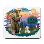 St Francis #2/ Westie Mousepad