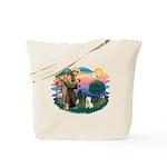 St Francis #2/ Westie Tote Bag