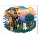 St Francis #2/ Westie Small Poster