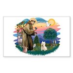 St Francis #2/ Westie Sticker (Rectangle 10 pk)
