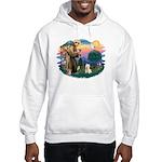 St Francis #2/ Westie Hooded Sweatshirt