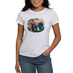 St Francis #2/ Westie Women's T-Shirt