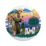 St Francis #2 / Westies (2) Ornament (Round)