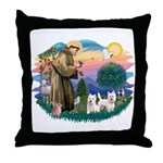 St Francis #2 / Westies (2) Throw Pillow