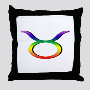 GLBT Taurus Throw Pillow