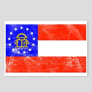 Vintage GA State Flag Postcards (Package of 8)