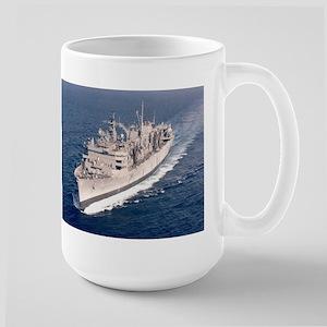 USS Supply Ship's Image Large Mug