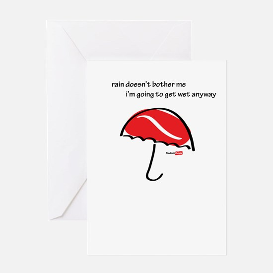 Wet outside Greeting Card