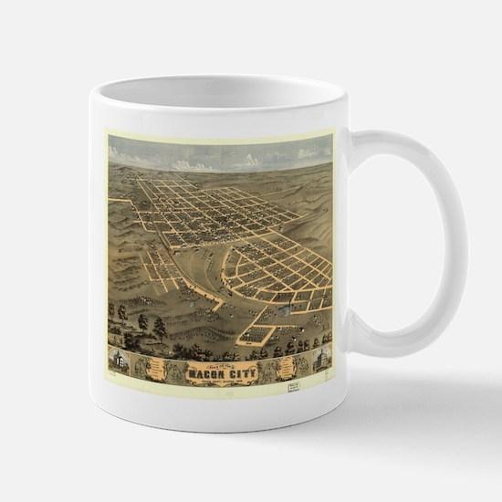 Vintage Map of Macon City Georgia (1869) Mugs
