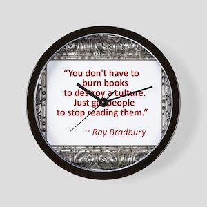 Bradbury on Books Wall Clock