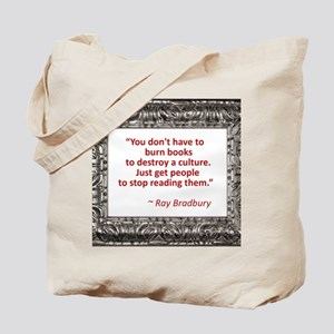 Bradbury on Books Tote Bag f4dd0d0e1ec95