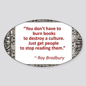 Bradbury on Books Sticker (Oval)
