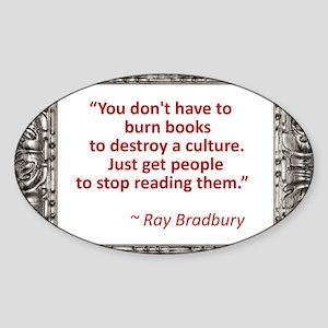 Bradbury on Books Sticker (Oval)