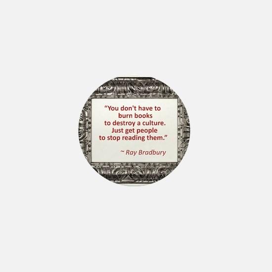 Bradbury on Books Mini Button