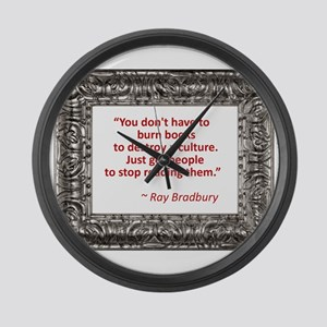 Bradbury on Books Large Wall Clock