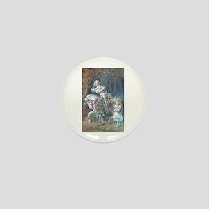 Alice and the White Knight Mini Button