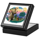 St Francis #2/ Welsh Ter. Keepsake Box