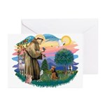 St Francis #2/ Welsh Ter. Greeting Cards (Pk of 20