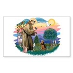 St Francis #2/ Welsh Ter. Sticker (Rectangle)