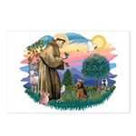St Francis #2/ Welsh Ter. Postcards (Package of 8)