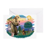 St Francis #2/ Welsh Ter. Greeting Card
