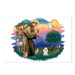 St Francis #2/ Poodle (Toy W) Postcards (Package o