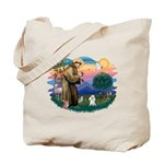 St Francis #2/ Poodle (Toy W) Tote Bag