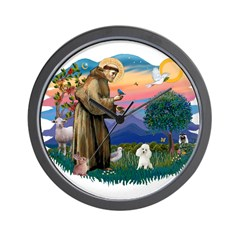 St Francis #2/ Poodle (Toy W) Wall Clock