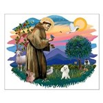 St Francis #2/ Poodle (Toy W) Small Poster