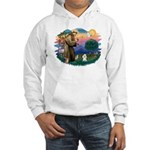 St Francis #2/ Poodle (Toy W) Hooded Sweatshirt