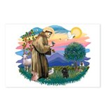 St Francis #2/ Poodle (Toy blk) Postcards (Package