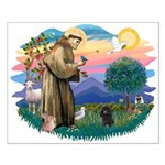 St Francis #2/ Poodle (Toy blk) Small Poster