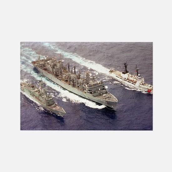 USS Rainier Ship's Image Rectangle Magnet