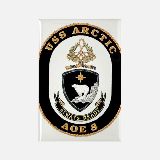 USS Arctic AOE 8 Rectangle Magnet