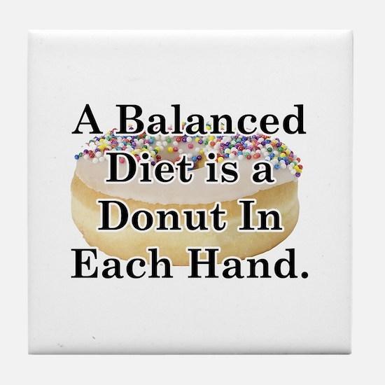 Balanced Donut Tile Coaster