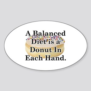 Balanced Donut Sticker (Oval)