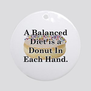 Balanced Donut Ornament (Round)