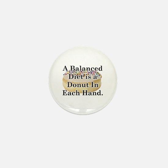 Balanced Donut Mini Button