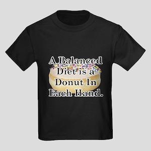 Balanced Donut Kids Dark T-Shirt