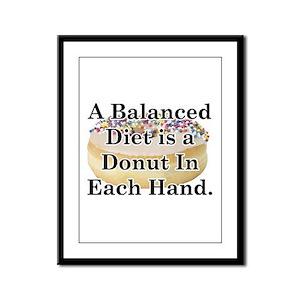 Balanced Donut Framed Panel Print