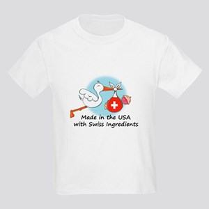 Stork Baby Switzerland USA Kids Light T-Shirt