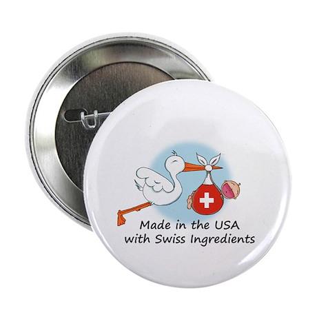 """Stork Baby Switzerland USA 2.25"""" Button"""