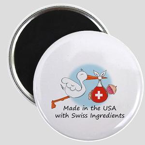Stork Baby Switzerland USA Magnet