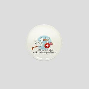 Stork Baby Switzerland USA Mini Button