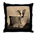 Old Fashioned JRT in Tub Throw Pillow