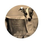Old Fashioned JRT in Tub Ornament (Round)
