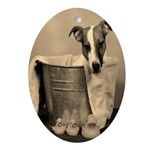 Old Fashioned JRT in Tub Oval Ornament