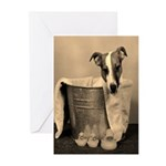 Old Fashioned JRT in Tub Greeting Cards (Package o