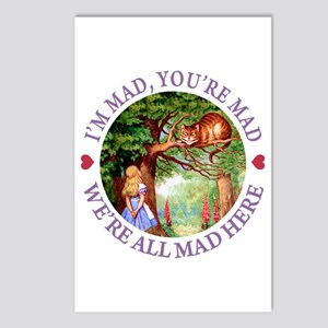 WE'RE ALL MAD HERE Postcards (Package of 8)